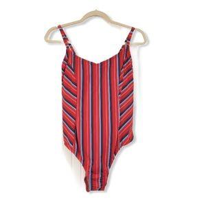 Kona Sol NWT Plus Size One Piece Swimsuit Striped